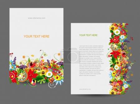 Illustration for Paper template, floral design - Royalty Free Image
