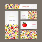Business cards design fruit background