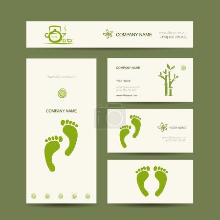 Illustration for Business cards design, foot massage - Royalty Free Image