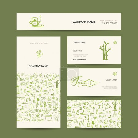 Illustration for Business cards design, massage and spa concept - Royalty Free Image