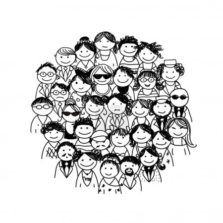 Illustration for Group of people for your design - Royalty Free Image
