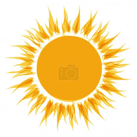 Illustration for Abstract sun shape for your design - Royalty Free Image