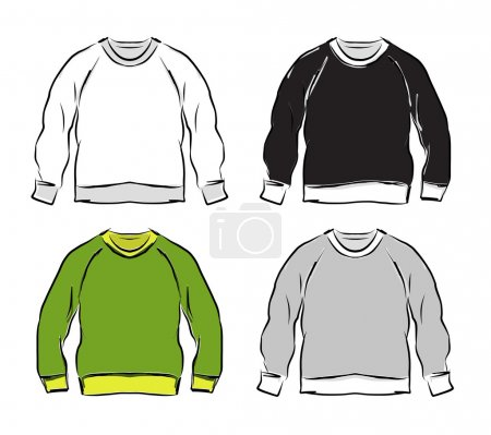 Abstract sweatshirts set sketch for your design