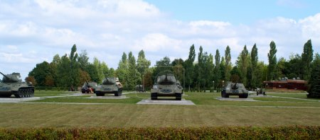 Russian old tanks in Prokhorovka