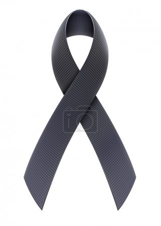 Illustration for Vector illustration of mourning concept with Black Awareness Ribbon - Royalty Free Image