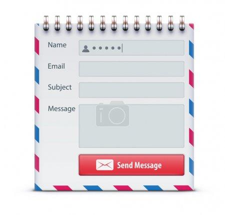 Illustration pour Vector illustration du concept de forme de courrier - image libre de droit