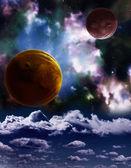 A beautiful space scene