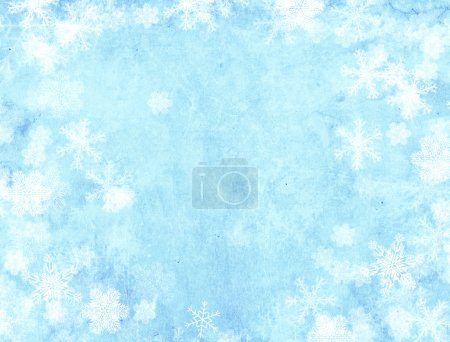 Photo for Vertical background of blue color with snowflakes - Royalty Free Image