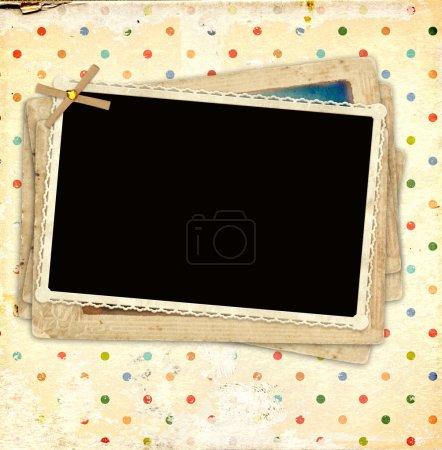 Photo pour Arrière-plan avec de vieilles photos pour scrapbooking - image libre de droit