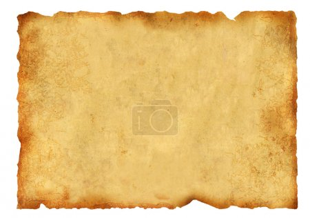 Foto de Viejo pergamino. aislado sobre fondo blanco - Imagen libre de derechos