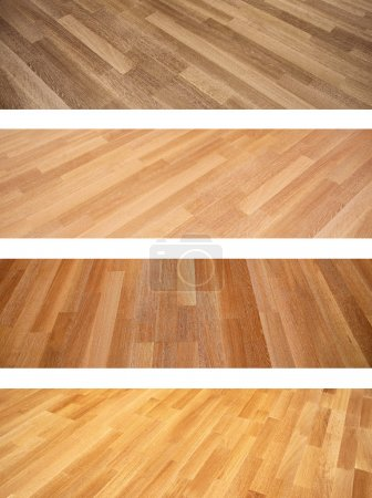 Set of banners with new oak parquet texture