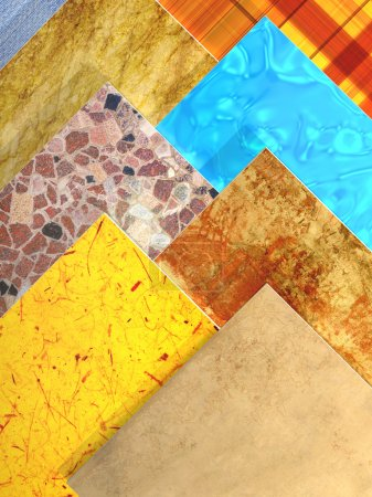 Photo pour Échantillons de carreaux de céramique. 3d - image libre de droit