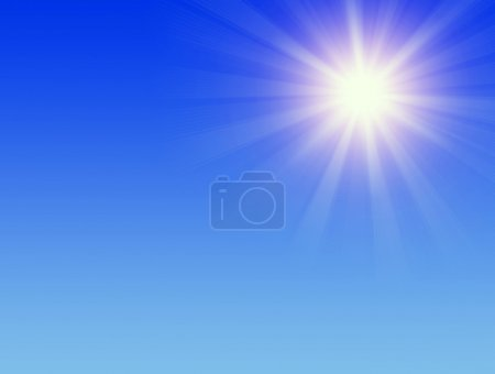 Photo for Bright sun in the blue sky - Royalty Free Image
