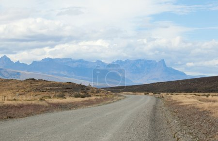 Road to the national park Torres del Paine, Patagonia, Chile, So