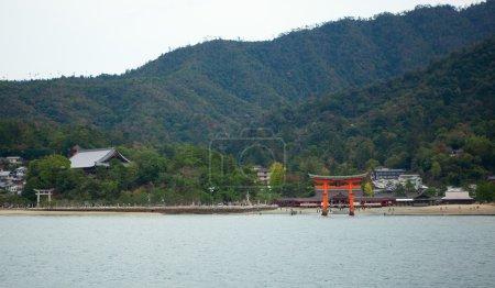 Beautiful view of Torii gate in Miyajima, near Hiroshima, Japan