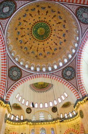 Ceiling of Suleimaniye Mosque in Istanbul