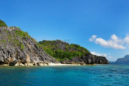Landscape with rocky island near Palawan
