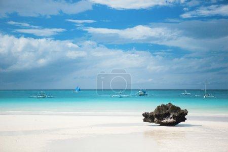 Perfect white sand beach on Boracay island