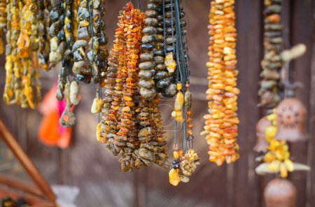 Beautiful amber necklaces