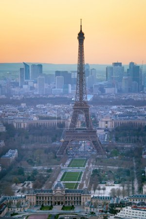 Photo for Aerial view of the Eiffel Tower in Paris - Royalty Free Image