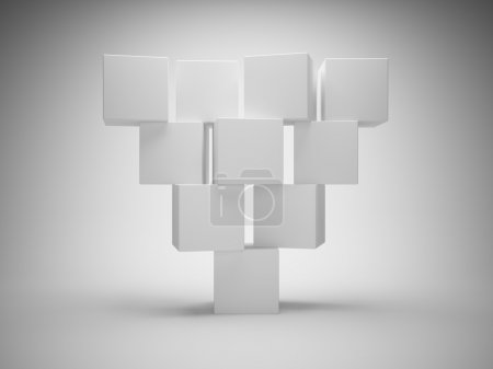 Photo for Abstract geometric shapes from cubes - Royalty Free Image