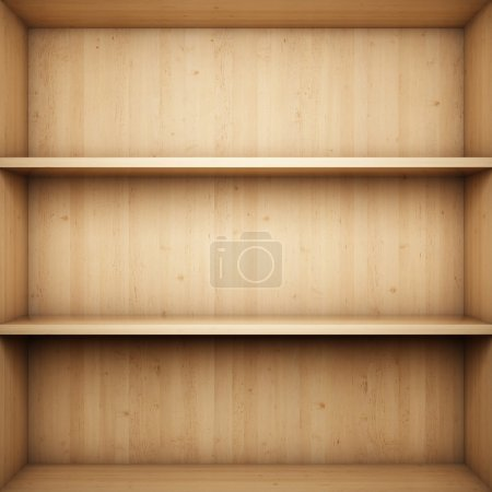 Photo for Blank wooden bookshelf - Royalty Free Image