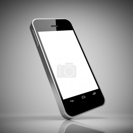 Photo for Black smart phone with touch screen blank - Royalty Free Image
