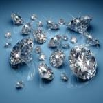 Brilliant diamonds on blue background...