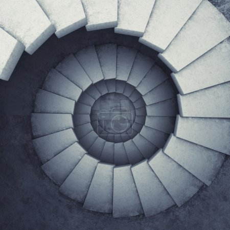 Photo for Design spiral staircase made of concrete - Royalty Free Image