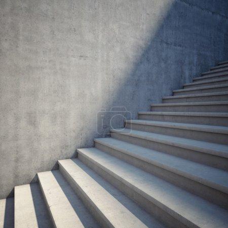 Photo pour Élément architectural des escaliers en béton - image libre de droit
