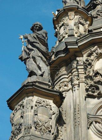 Detail of Holy Trinity Column in Olomouc,unesco heritage