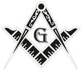 Freemasonry emblem - the masonic square and compass symbol vect