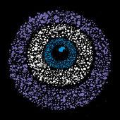 Grunge barevné amulet symbol - uhranutí, vektorové ilustrace