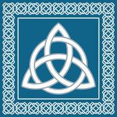 Ancient symbol triskel traditional element for celtic ethnic design -  vector illustration