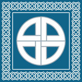 Ancient Celtic knotsymbol of protection used by vikingsscandinavian warriors vector illustration for ethnic design