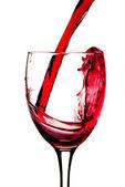 Rött vin och vinglas