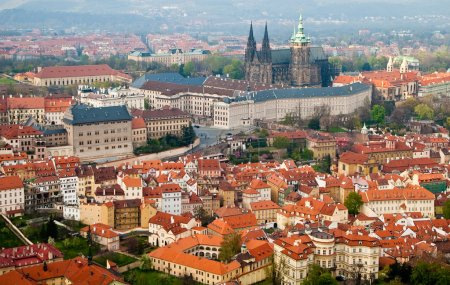 Prague's roofs. Czech Republic. Prague Castle. St Vitus Cathedral