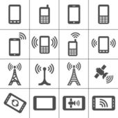 Simplus icons series Mobile devices and wireless technology