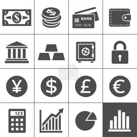 Foto de Finance Icons. Each icon is a single object (compound path) - Imagen libre de derechos