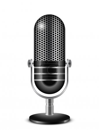 Vector illustration of retro microphone...