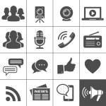 Media & Social Network Icons. Simplus series. Each...