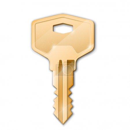 Illustration pour Clé d'or. illustration de concept.vector immobilier - image libre de droit