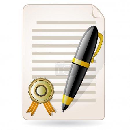 Illustration pour D'accord. Concept du contrat . - image libre de droit