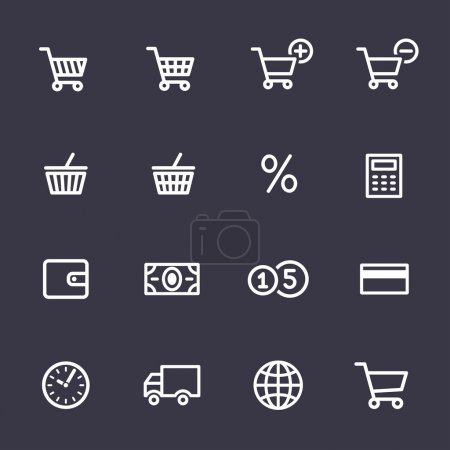 Illustration for Shopping Icon Set. Icons for online shop - Royalty Free Image