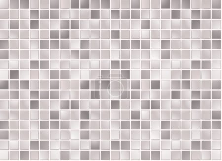 Illustration for Seamless grey square tiles pattern - Royalty Free Image