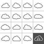 Cloud shapes collection. Cloud icons for cloud com...