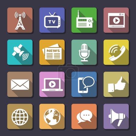 Illustration pour Icônes des médias. flaticons série. icônes vectorielles - image libre de droit