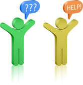 Call for Help Social Media Communication Concept