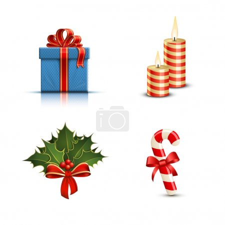 Illustration for Highly detailed Christmas icons. Vector illustration - Royalty Free Image