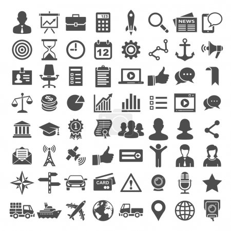 Universal icon set. 64 icons